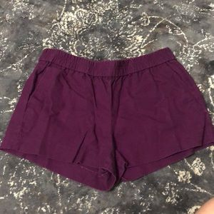 J. Crew Purple Shorts